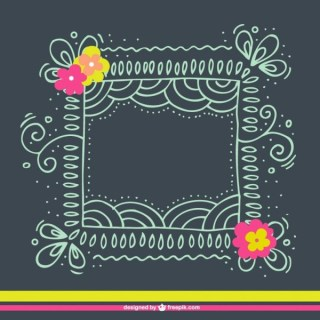 Floral Hand Drawn Frame Free Vectors