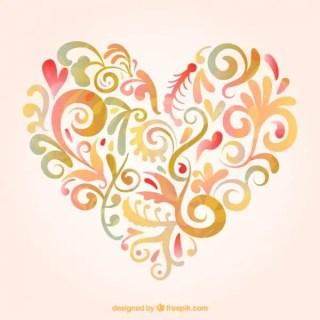 Floral Heart Free Vectors
