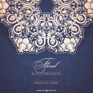 Floral Lace Illustration Free Vectors