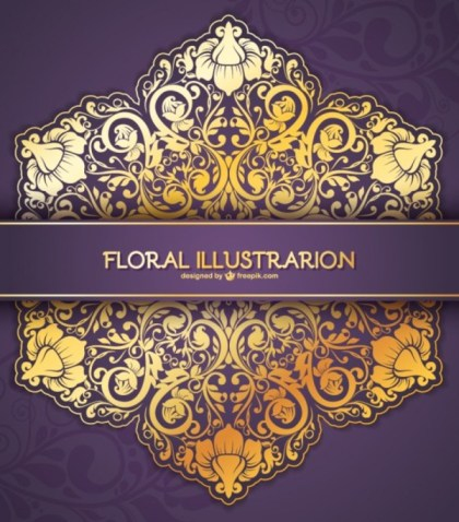 Floral Lace Vector Card Free Vectors
