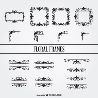 Floral Ornament Frames Collection Free Vectors