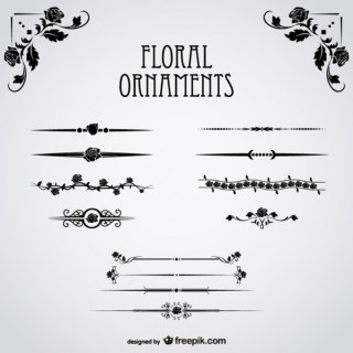 Floral Ornaments Collection Free Vectors