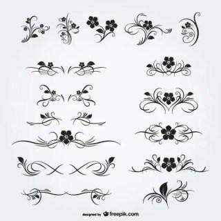 Floral Ornaments Free Graphics Free Vectors