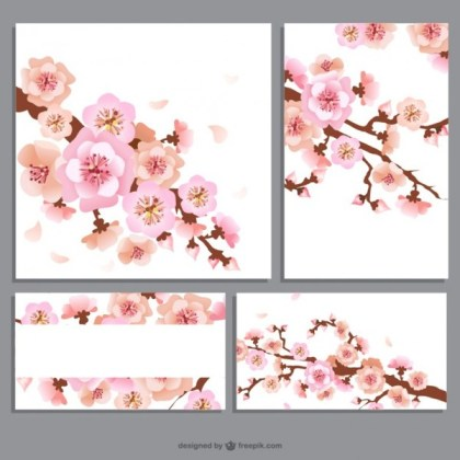 Flower Banners Pack Free Vectors