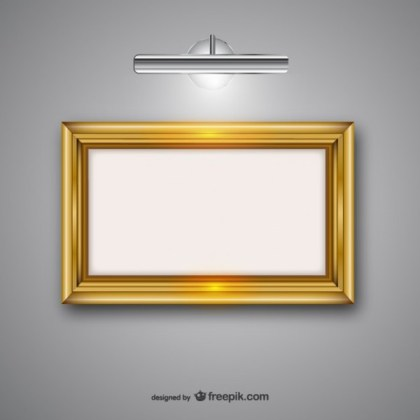 Frame with Lamp Free Vectors