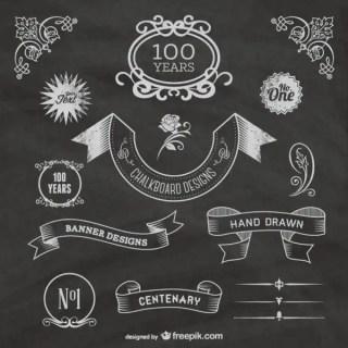 Free Chalkboard Centenary Celebration Free Vectors