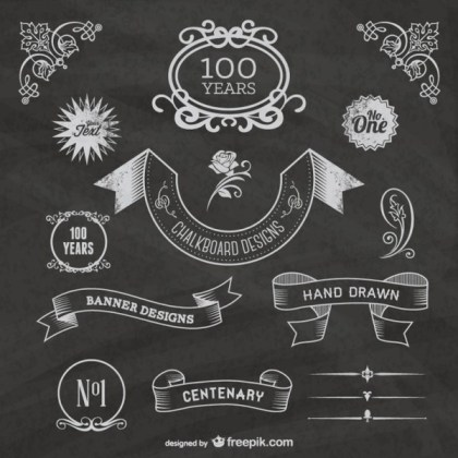 Free Chalkboard Centenary Celebration Free Vectors