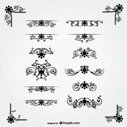 Free Vector Floral Ornaments Free Vectors