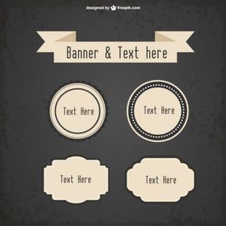Free Vector Retro Style Promotion Banners Free Vectors