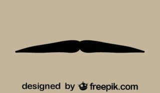 Gentleman'S Mustache Minimalist Icon Retro Style Free Vectors