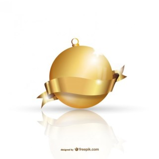 Golden Christmas Ball Free Vectors