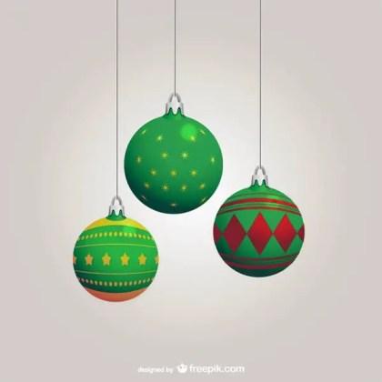 Green Christmas Balls Vector Free Vectors