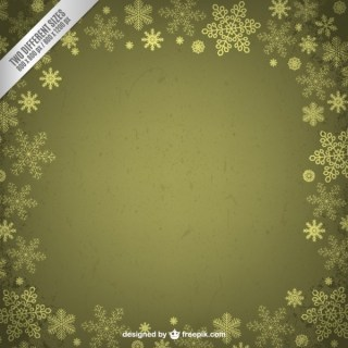 Green Frame with Snowflakes Free Vectors