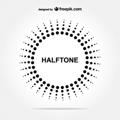 Halftone Circle Free Background Free Vectors