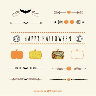 Halloween Dividers and Ornaments Vector Art Free Vectors