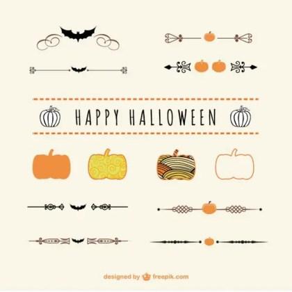 Halloween Dividers and Ornaments Vector Art Free Vectors