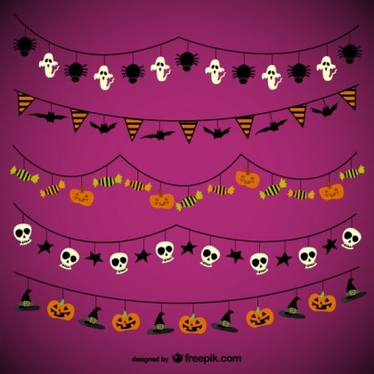Halloween Garlands Pack Free Vectors
