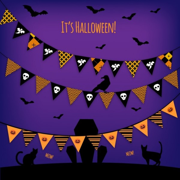 Halloween Garlands Vector Free Vectors
