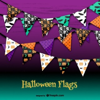 Halloween Party Garlands Free Vectors