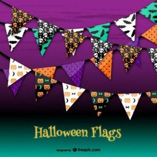 Halloween Party Garlands Free Vectors