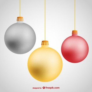 Hanging Christmas Balls Free Vector Free Vectors