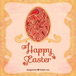 Happy Easter Card In Art Deco Style Free Vectors