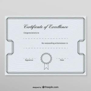 Honorary Certificate Template Free Vectors