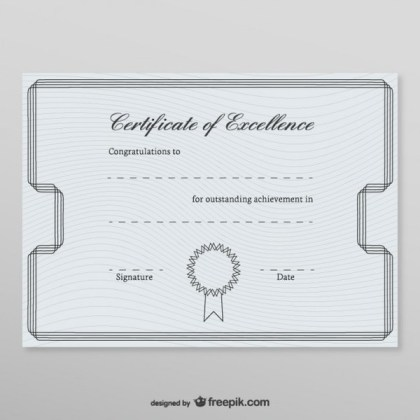 Honorary Certificate Template Free Vectors