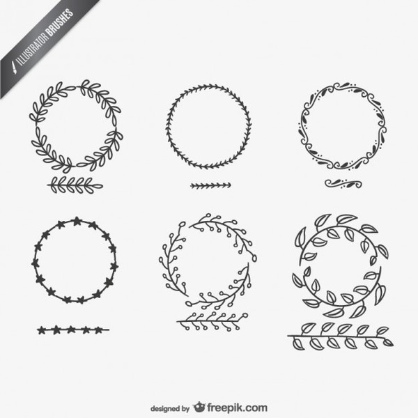Illustrator Brushes Collection Free Vectors