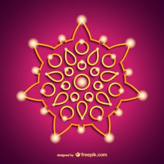 India Diwali Ornament Free Vectors