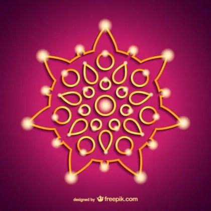 India Diwali Ornament Free Vectors