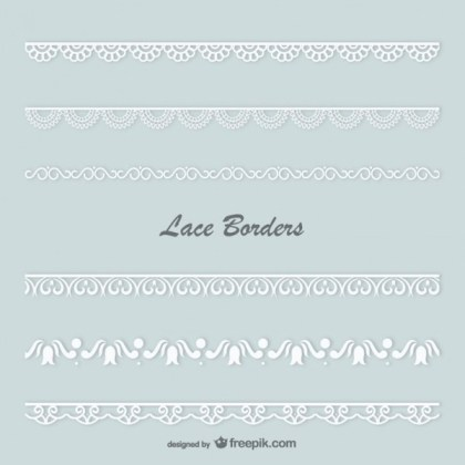 Lace Borders Vector Collection Free Vectors
