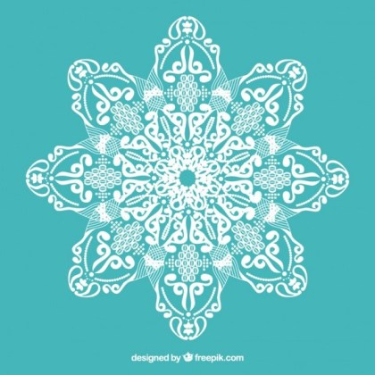 Lace with Floral Ornaments Free Vectors