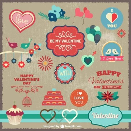 Love Celebration Graphic Elements Free Vectors