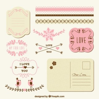 Love Decoration For Post Free Vectors
