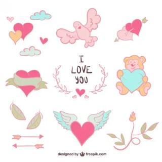 Love Drawings Free Vectors