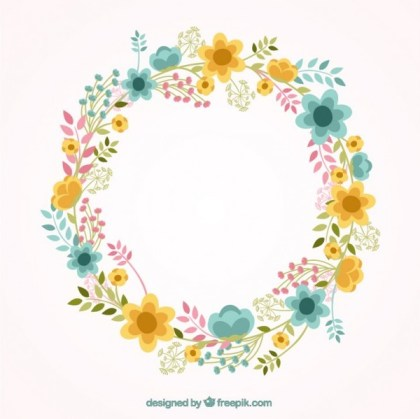 Lovely Floral Frame Free Vectors