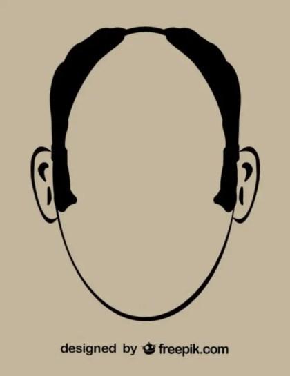 Man Outline Head Free Vectors