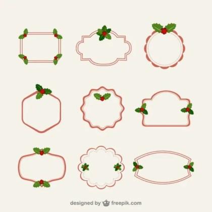 Minimalist Christmas Frames Free Vectors