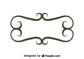 Minimalist Retro Style Floral Frame Vector Graphics Free Vectors