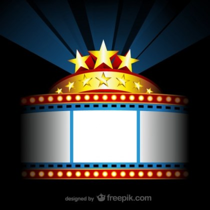 Movie Theater Sign Free Vectors