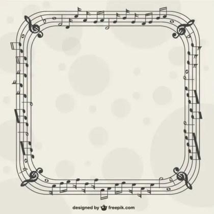 Music Nostes Frame Vector Free Vectors