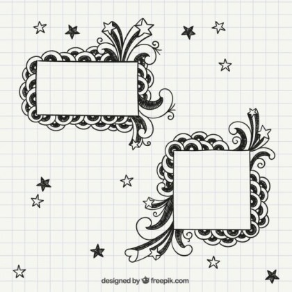 Notebook Frames Free Vectors