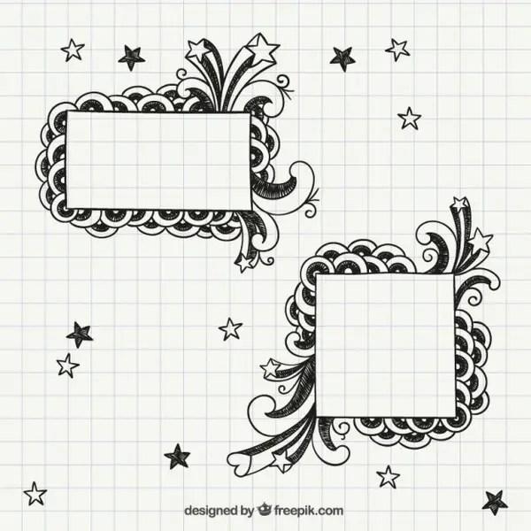 Notebook Frames Free Vectors