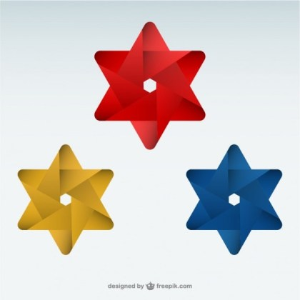 Origami Star Logo Template Free Vectors