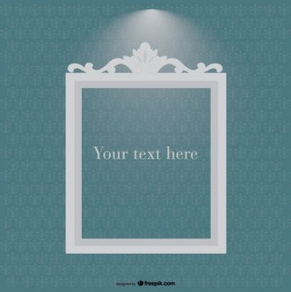 Ornament Frame In Spotlight On Vintage Style Background Free Vectors