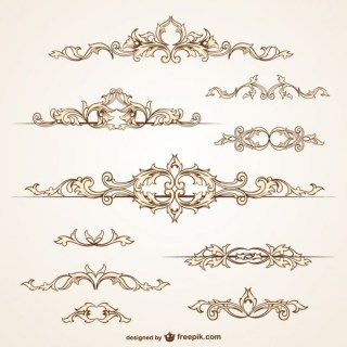 Ornamental Borders Free Vectors