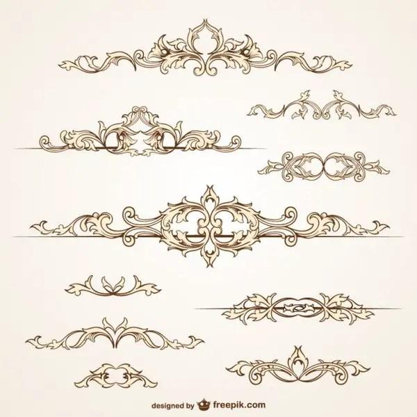 Ornamental Borders Free Vectors