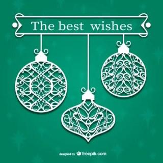 Ornamental Christmas Balls Free Vectors