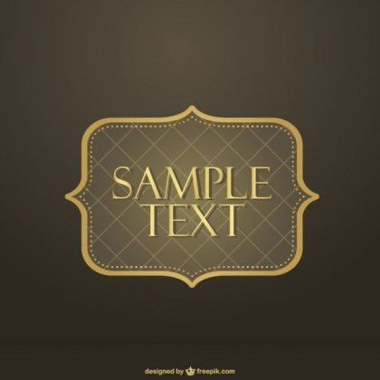 Ornamental Golden Frame Free Vectors